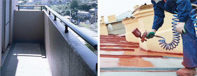 防水塗装剥げをそのままにしておきますと、 水漏れ・漏水の発生に繋がります。
