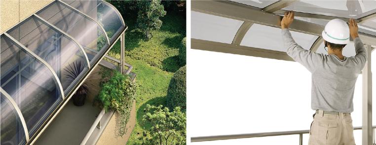 屋根の破損をそのままにしておくと、破損部分が落下する恐れがあり、大変危険です。 早めの修理をお勧めします。
